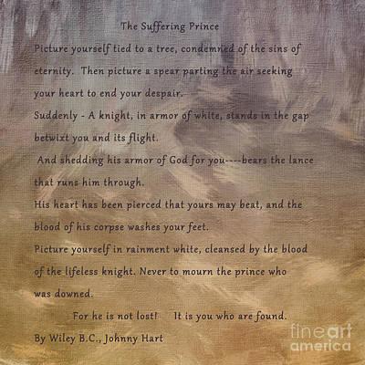 Sharon Knight Wall Art - Photograph - Suffering Prince by Sharon Elliott