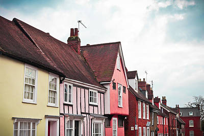 Rooftop Photograph - Suffolk Houses by Tom Gowanlock