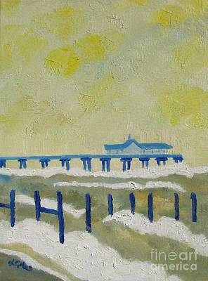 Suffolk Southwold Pier Art Print by Lesley Giles