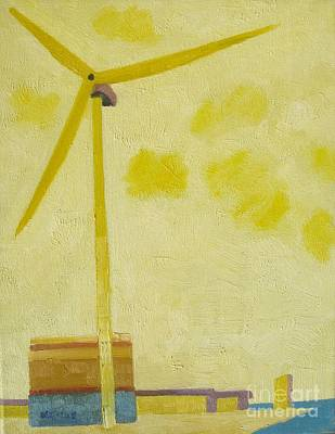 Lowestoft Painting - Suffolk Wind Turbine Ness Pt by Lesley Giles