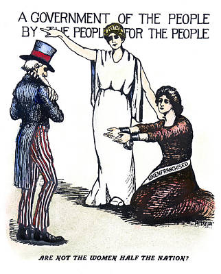 Justice Painting - Suffrage Cartoon, C1919 by Granger