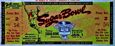 Photograph - Sugar Bowl Classic 1954 by Benjamin Yeager