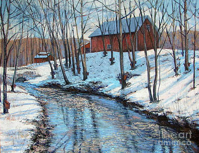 New England Snow Scene Painting - Sugar Brook by Gerard Natale