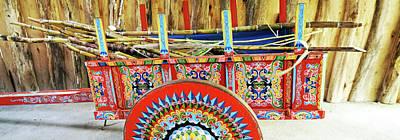 Sugar Canes In La Carreta The Oxcart Art Print