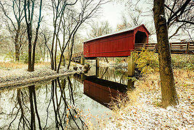 Photograph - Sugar Creek Covered Bridge 2 by Ben Graham