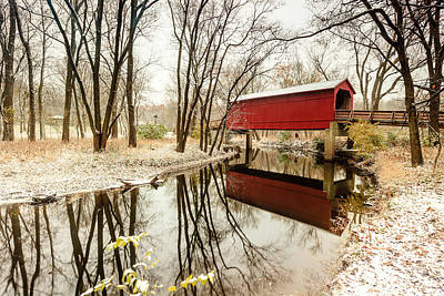 Photograph - Sugar Creek Covered Bridge 3 by Ben Graham