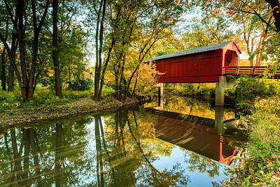 Photograph - Sugar Creek Covered Bridge by Ben Graham
