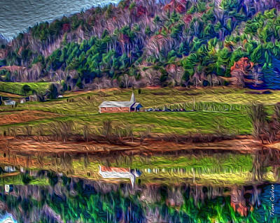 Photograph - Sugar Grove Reflection by Tom Culver