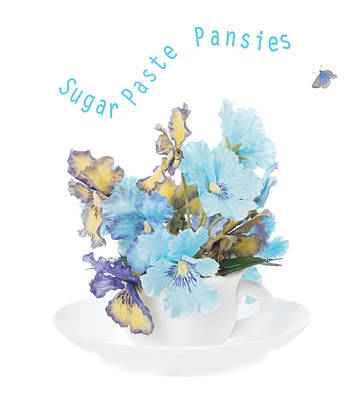 Paste Photograph - Sugar Paste Pansies by Amanda Elwell