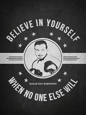 Sugar Ray Robinson - Dark Art Print