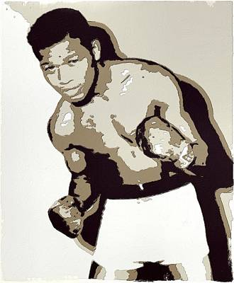 Boxer Digital Art - Sugar Ray Robinson by Florian Rodarte