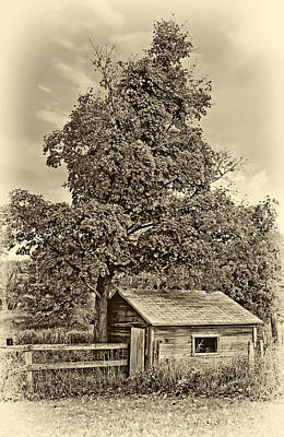 Pennsylvania Photograph - Sugar Shack Sepia by Steve Harrington
