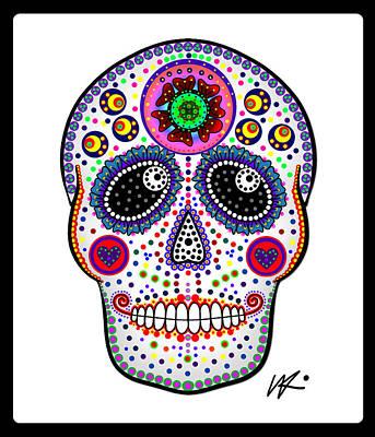 Digital Art - Sugar Skull by Kiki Art