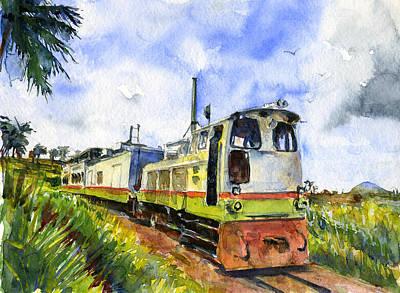 Painting - Sugar Train Saint Kitts by John D Benson