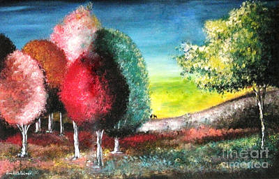 Sugar Trees Art Print by Roni Ruth Palmer