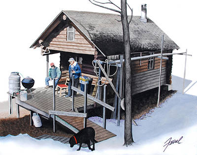 Painting - Sugarbush Cabin by Ferrel Cordle