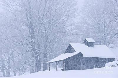 Photograph - Sugarhouse Snowfall by Alan L Graham