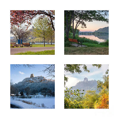 Sugarloaf Four Seasons Square Art Print
