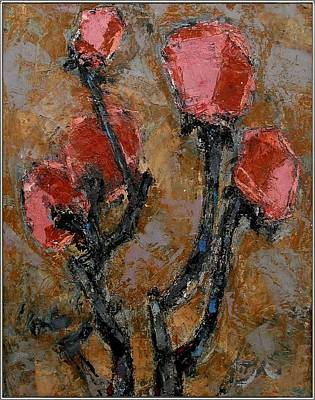 Painting - suggestion of flowers SOFLO1 by Pemaro