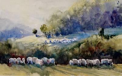 Painting - Suha Reka Grazing by Sandra Strohschein