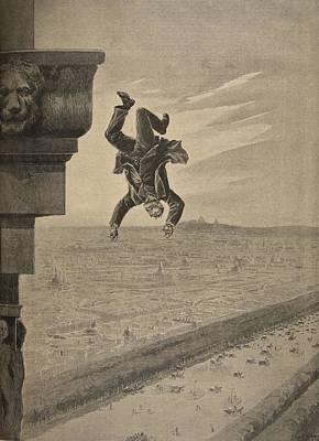 Suicide At The Arc De Troimphe Art Print