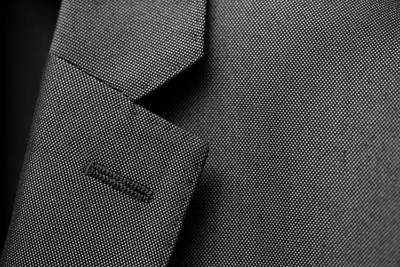Suit Texture Art Print by Mike Taylor