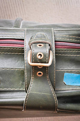 Suitcase Buckle Art Print by Tom Gowanlock