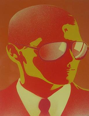 Stencils Painting - Suits by Leon Keay