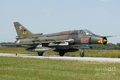 Sukhoi Photograph - Sukhoi Su-22m Fitter From The Polish by Riccardo Niccoli