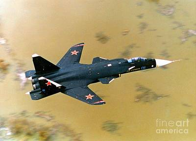 Sukhoi Photograph - Sukhoi Su-47 Berkut Fighter Aircraft by Ria Novosti