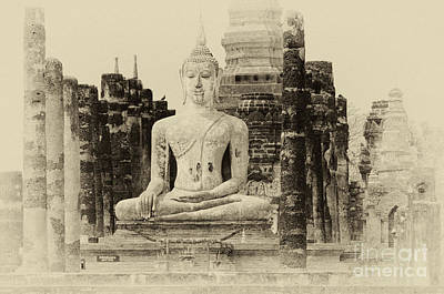 Photograph -  Buddha Sukhothai Thailand 1 by Bob Christopher