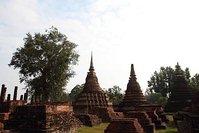 Ancient Photograph - Sukhothai Historical Park - Sukhothai Thailand - 011312 by DC Photographer