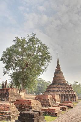 Historical Photograph - Sukhothai Historical Park - Sukhothai Thailand - 011313 by DC Photographer