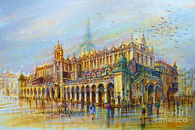 Sukiennice In Cracow Art Print