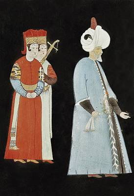 Suleyman I 1494-1566. Suleyman With Two Art Print
