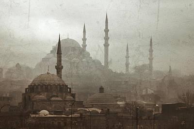 Suleymaniye Mosque And Rustem Pasha Mosque Art Print by Ayhan Altun