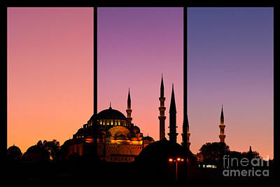 Photograph - Suleymaniye Sundown Triptych 02 by Rick Piper Photography