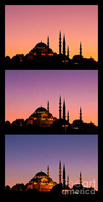 Photograph - Suleymaniye Sundown Triptych 04 by Rick Piper Photography