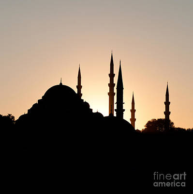 Photograph - Suleymaniye Sunset Silhouette by Rick Piper Photography