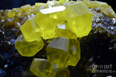Photograph - Sulfur Crystals Macro by Shawn O'Brien