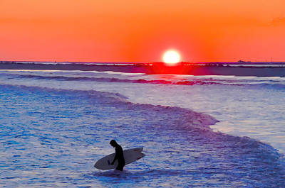Photograph - Sullen Surfer At Sunset by Beth Sawickie