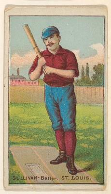 Baseball Cards Drawing - Sullivan, Batter, St. Louis by D. Buchner & Co., New York