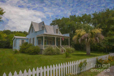 Digital Art - Sullivan's Island House by Dale Powell