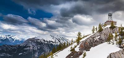Sulphur Mountain Up High Art Print by Chris Halford
