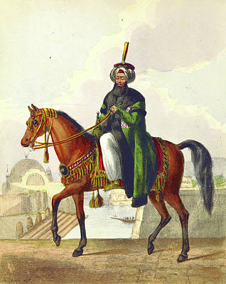 Constantinople Drawing - Sultan Mahmood, Constantinople In 1828, In The Turkish by Litz Collection