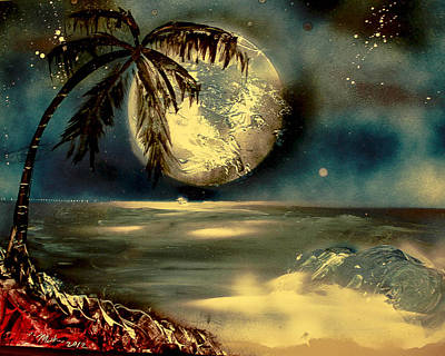 Sultry Moonlight Art Print by Rochelle Midro
