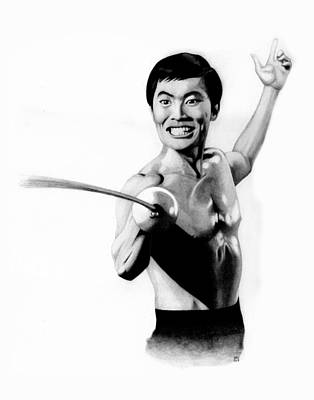 Science Fiction Drawing - Sulu From The Naked Time by Kris Milo