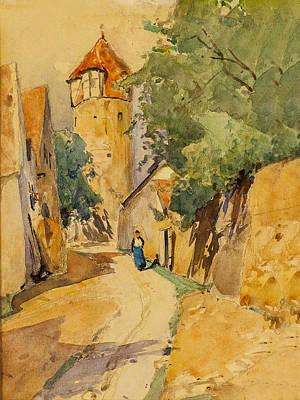 Sulzbach Street Scene Art Print by Eduard Zetsche