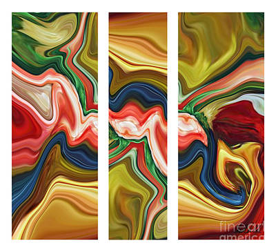 Painting - Sum Of All Suburban Daydreams Triptych by Chad Miller