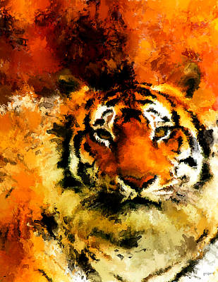 Abstract Wildlife Digital Art - Sumatran by Lourry Legarde